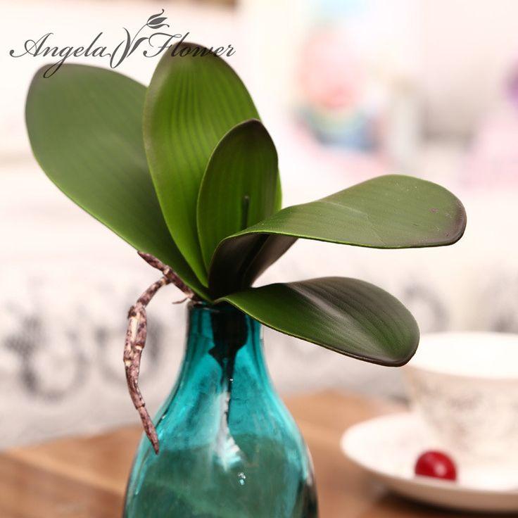 1 шт. реального прикосновения фаленопсис листьев искусственные растения листьев…