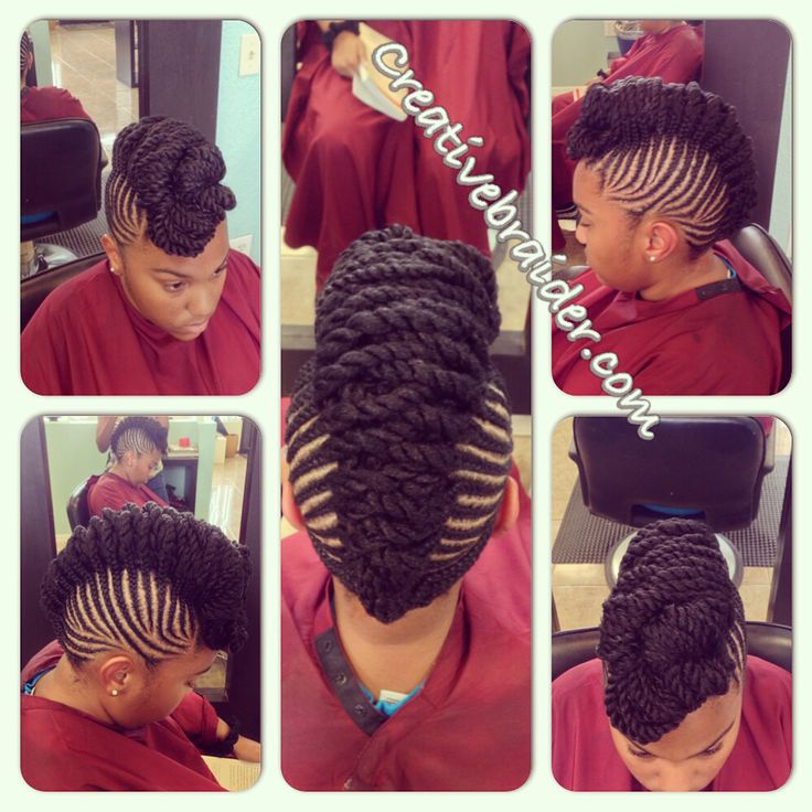 Easy Hairstyles For Medium Black Relaxed Hair : My work braids protectivestyles protectivehairstyles naturalhair