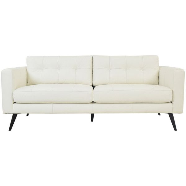Sofa Table Moe us Home Collection Cortado Leather Sofa White By liked on Polyvore featuring