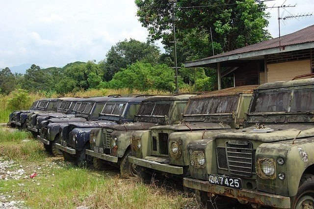 Paddock aged #LandRover Series 3's, nearly ready for everyday use.