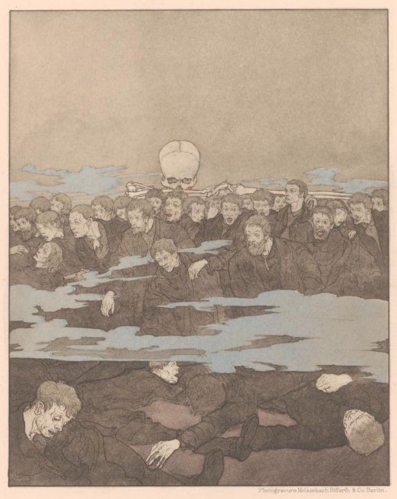 A Modern Dance of Death - Prints by Joseph Sattler