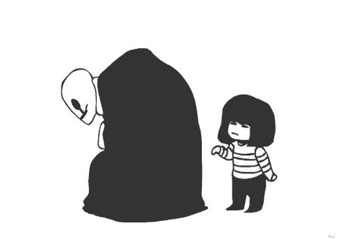 funny gaster gifs - [... !!! BUT HOW!? HUMAN! WHAT? OH NO.]