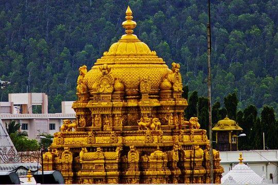 "The Tirumala Hill comprises of seven peaks, representing the seven heads of Adisesha, thus earning the name Seshachalam. The seven peaks are called Seshadri, Neeladri, Garudadri, Anjanadri, Vrushabhadri, Narayanadri and Venkatadri. The temple is on Venkatadri (also known as Venkatachala or Venkata Hill), the seventh peak, and is also known as the ""Temple of Seven Hills""."