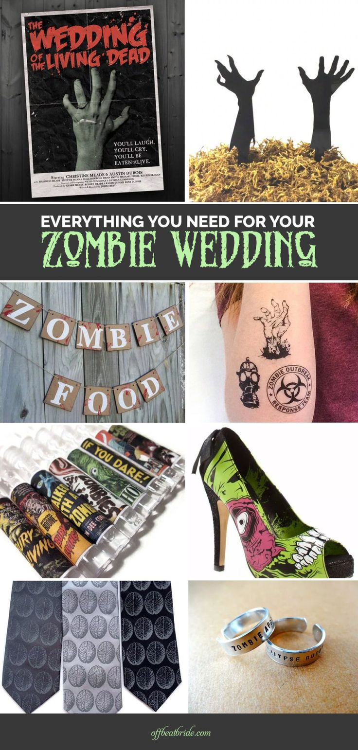 Everything you need for a zombie wedding from @offbeatbride