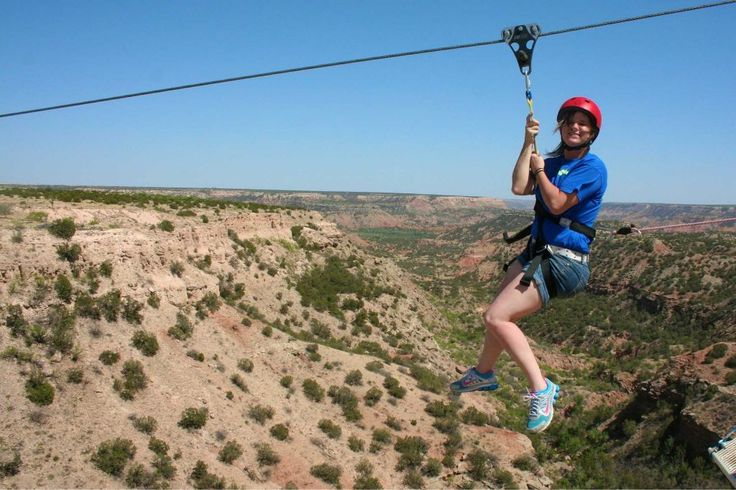 Palo Duro Canyon Adventure Park and Zip Line Not far from Amarillo, this spot offers outdoor activities such as zip-lining and bouldering.