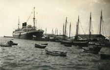 Photo ancienne vintage snapshot paquebot bateau boat Salonique 1935