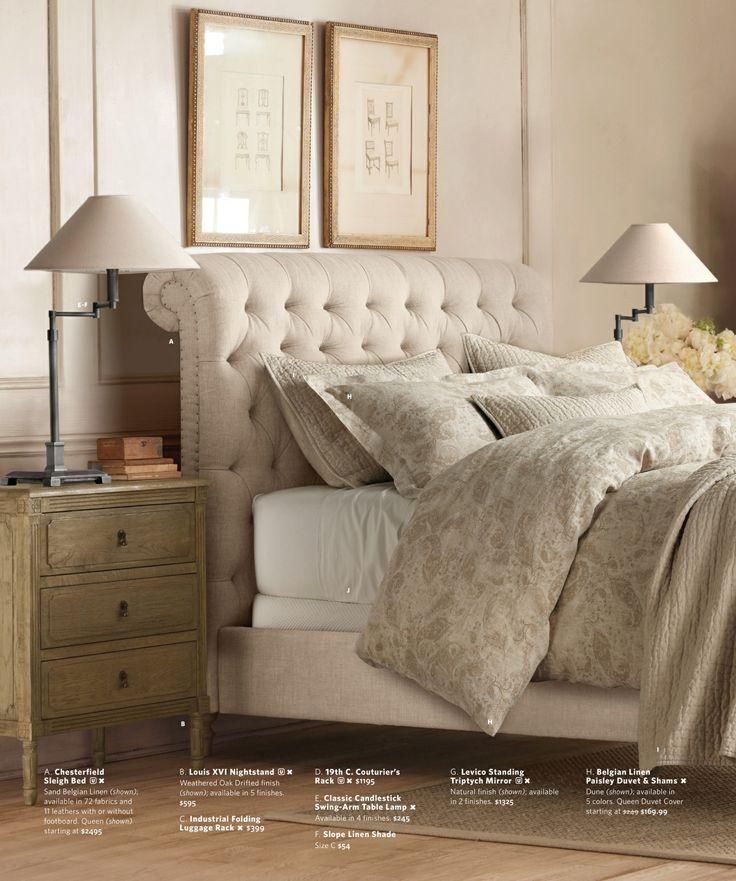2013 Fall Catalog Restoration Hardware Queen Upholstered Bed King Upholstered Bed