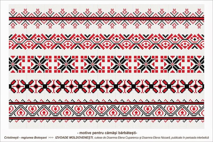 Semne Cusute: Romanian traditional motifs - MOLDOVA - Botosani, Cristinesti