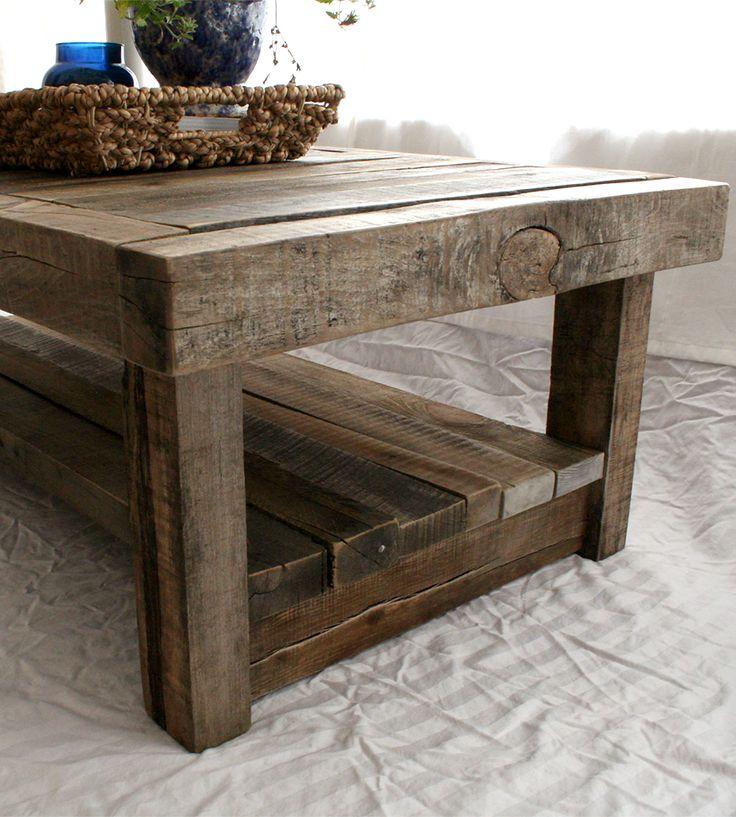 Barn Wood Furniture Ideas: Reclaimed Barnwood Coffee Table