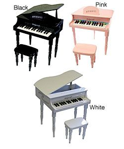 @Overstock - This child's piano is ideal for toddlers and children Musical instrument features 30 playable keys and has a 'baby grand' piano style A beautifully crafted, yet fun and entertaining first keyboardhttp://www.overstock.com/Gifts-Flowers/Childs-Baby-Grand-Piano/2904524/product.html?CID=214117 $137.99