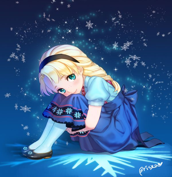 "Young Elsa from ""Frozen"" - Art by Briska"