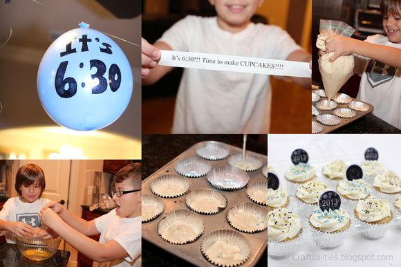 Countdown activities for New Year's Eve