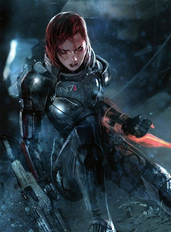 Mass Effect 3: Shepard | #art #games #masseffect