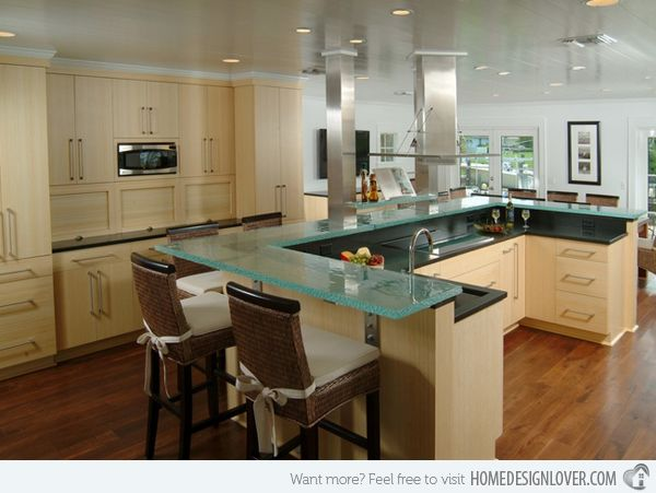 """15 Contemporary U-shaped Kitchen Designs - Old Riomar 1 
