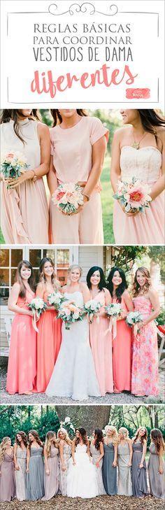 Vestidos de Damas Desiguales – Reglas básicas para lograr el Look Perfecto | El Blog de una Novia