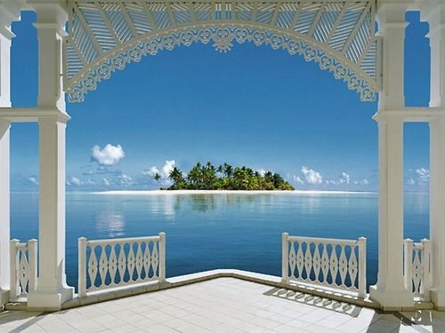 Tahitian Island View: Favorit Place, Dream, Wall Murals, Art Prints, Murals Art, Islands, View, The Bahama, Pictures Perfect