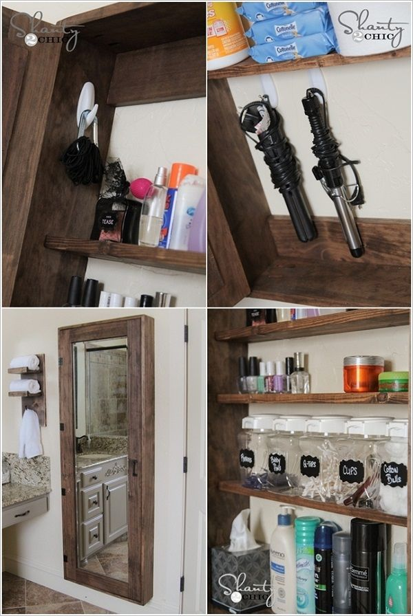 17 best ideas about how to make mirror on pinterest - Bathroom mirror with hidden storage ...