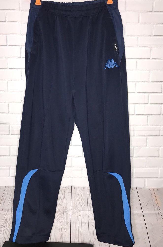 dc73135e Men's Vintage Kappa Track Sweat Pants Size L Navy Blue EUC | eBay ...