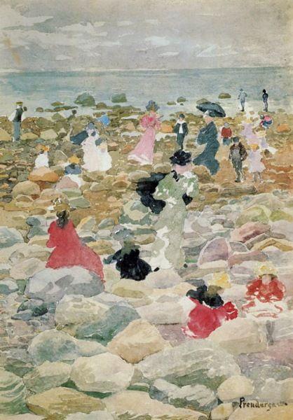 Maurice Prendergast (American, 1858-1924) Post-Impressionism, Nantasket Beach