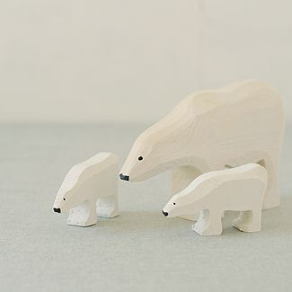 Polar Bear Family , Are made in Swedish Lapland,
