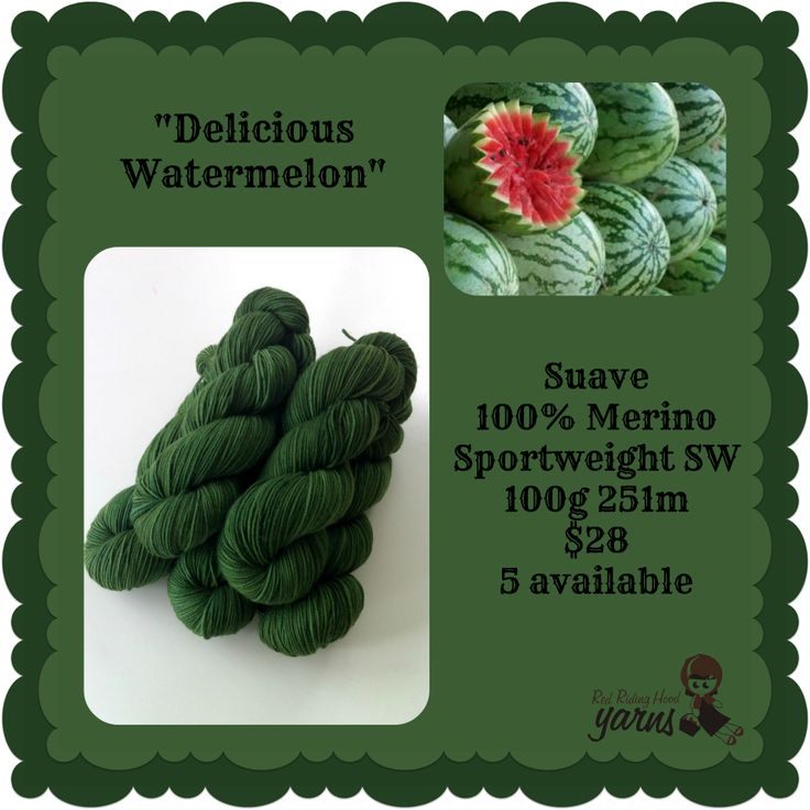 Delicious Watermelon - Summerfruits Stocking | Red Riding Hood Yarns