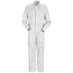 Men's Snap Front Cotton Coveralls - 5 color choices CC14 (10oz with snap front) $35.65 WHITE ONLY