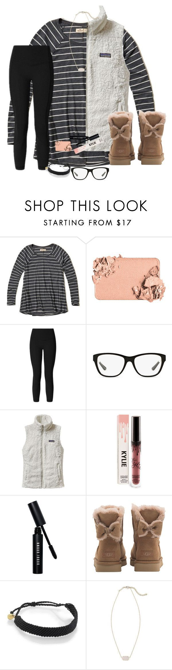 """""""Looking Cute Is A Competitive Sport"""" by bowbeauty01 ❤ liked on Polyvore featuring Hollister Co., Too Faced Cosmetics, lululemon, Ralph Lauren, Patagonia, Bobbi Brown Cosmetics, UGG, Pura Vida, Kendra Scott and bowbeautiful"""