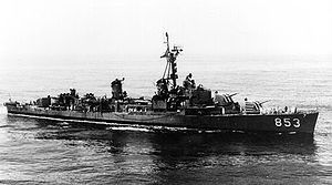 USS Charles H. Roan (DD-853) Gearing-class destroyer named for Charles Howard Roan, a U.S. Marine who lost his life in action on the island of Palau during WWII.