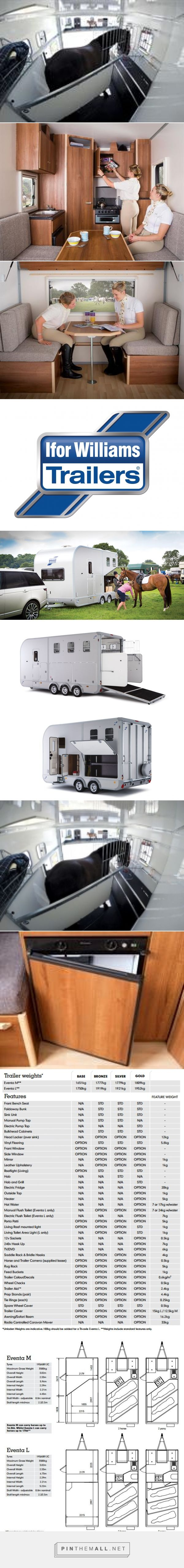 Ifor Williams Eventa L Horse Trailer with Living - created via https://pinthemall.net
