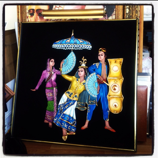 1970s Filipino painting on velvet | Moving Day Hunt ...