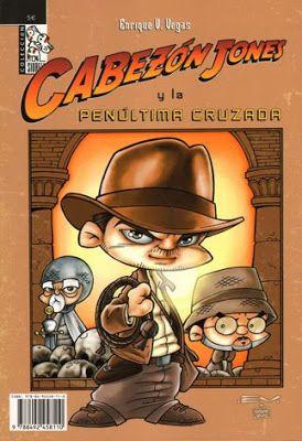 Cabezón Jones, en esta ocasión parodiando la película Indiana Jones y la última cruzada (Steven Spielberg, 1989).El cómic incluye 42 pgs de historieta (con cameos del BRPD de Hellboy, Jar Jar Binks de Star Wars o Pierre No-doy-una de Autos Locos)