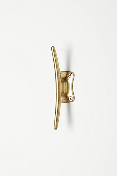 hang 2 of these horizontally on wall for bangles and necklaces to hang from.  Streamline Hook  #anthropologie