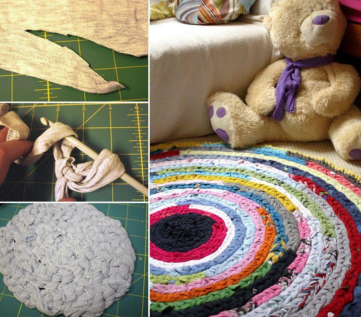 How to Make Crochet Rag Rug - Crochet - Handimania  http://www.handimania.com/crochet/crochet-rag-rug.html