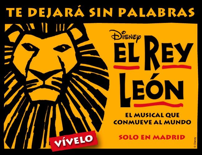 El Rey León Lion King Poster in Spanish