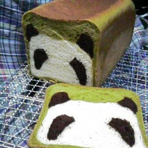 """(Note: in Japanese bread is """"pan"""", and so here """"pan-da"""" is used as a pun meaning """"it's bread""""- panda-bread.) I baked cute panda-pan (bread). After many revisions, this is my final version of the recipe!"""