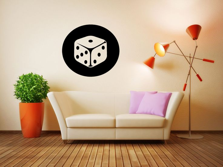 Wall Vinyl Sticker Decals Mural Room Design Pattern Art Dice Casino  Roulette Fun Bo1962 By RoomDecalsAndDesigns Part 34