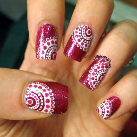 Concentrically dotted. Browse and book an appointment with a manicurist at www.helloshampoo.com