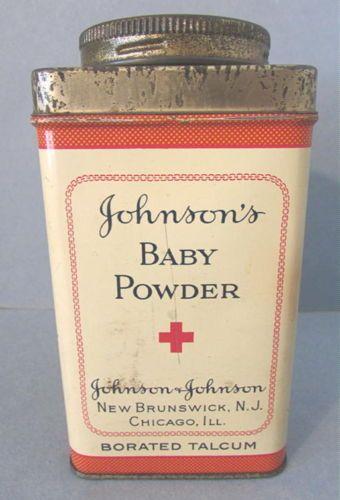 Vintage Johnson Johnson Baby Talcum Powder TIN Container | eBay