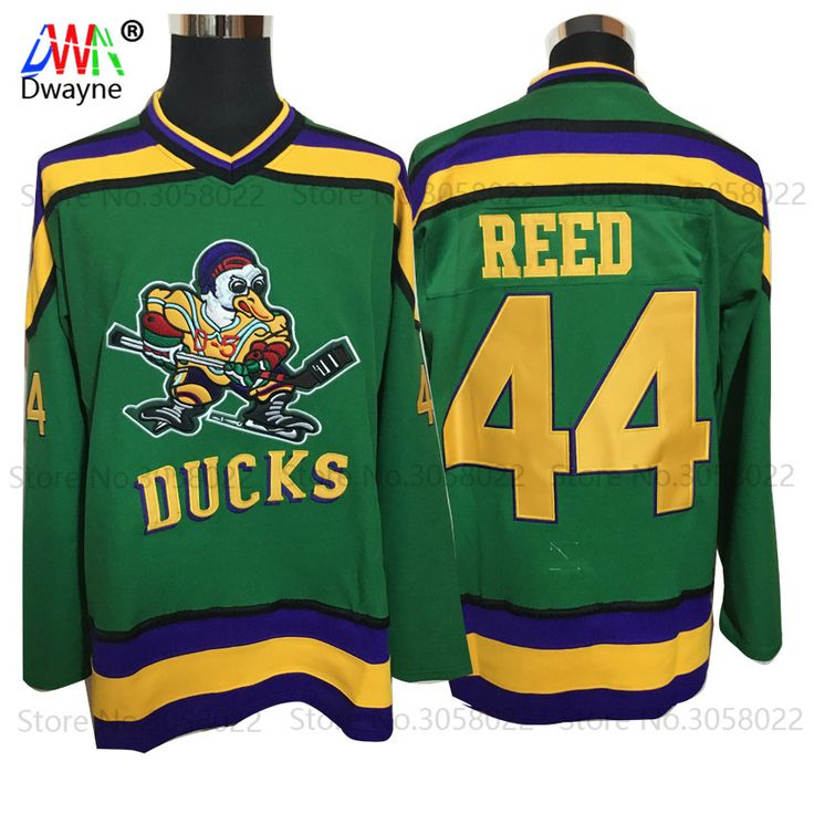 2017 Dwayne Mens Mighty Ducks Movie Ice Hockey Jersey Vintage 44 Fulton Reed Jersey Winter Wear Green For Men Stitched Sewn #Affiliate