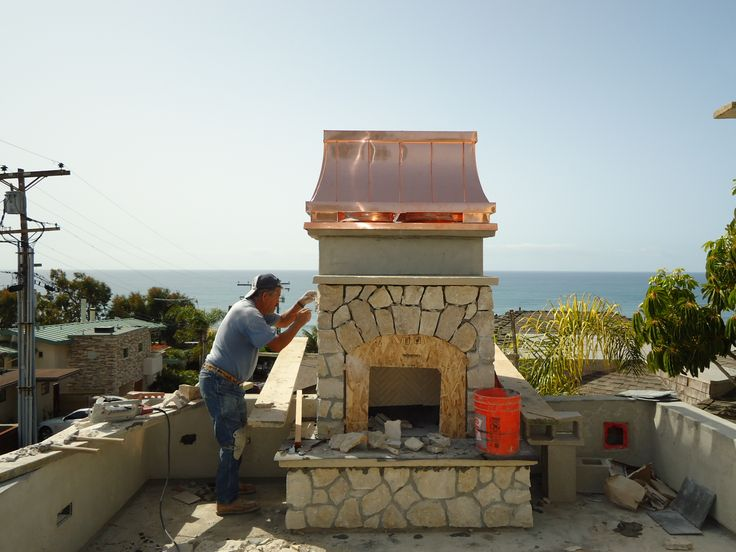 'Temptress' chimney crown in copper from Chimney King overlooking the beach in SD. Joe Hanley Const.