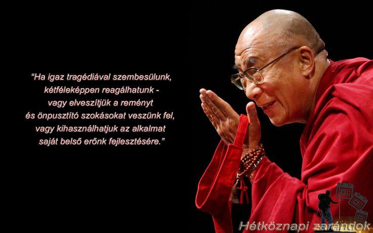 Dalai láma Zen idézetek. Ha igaz tragédiával szembesülünk...