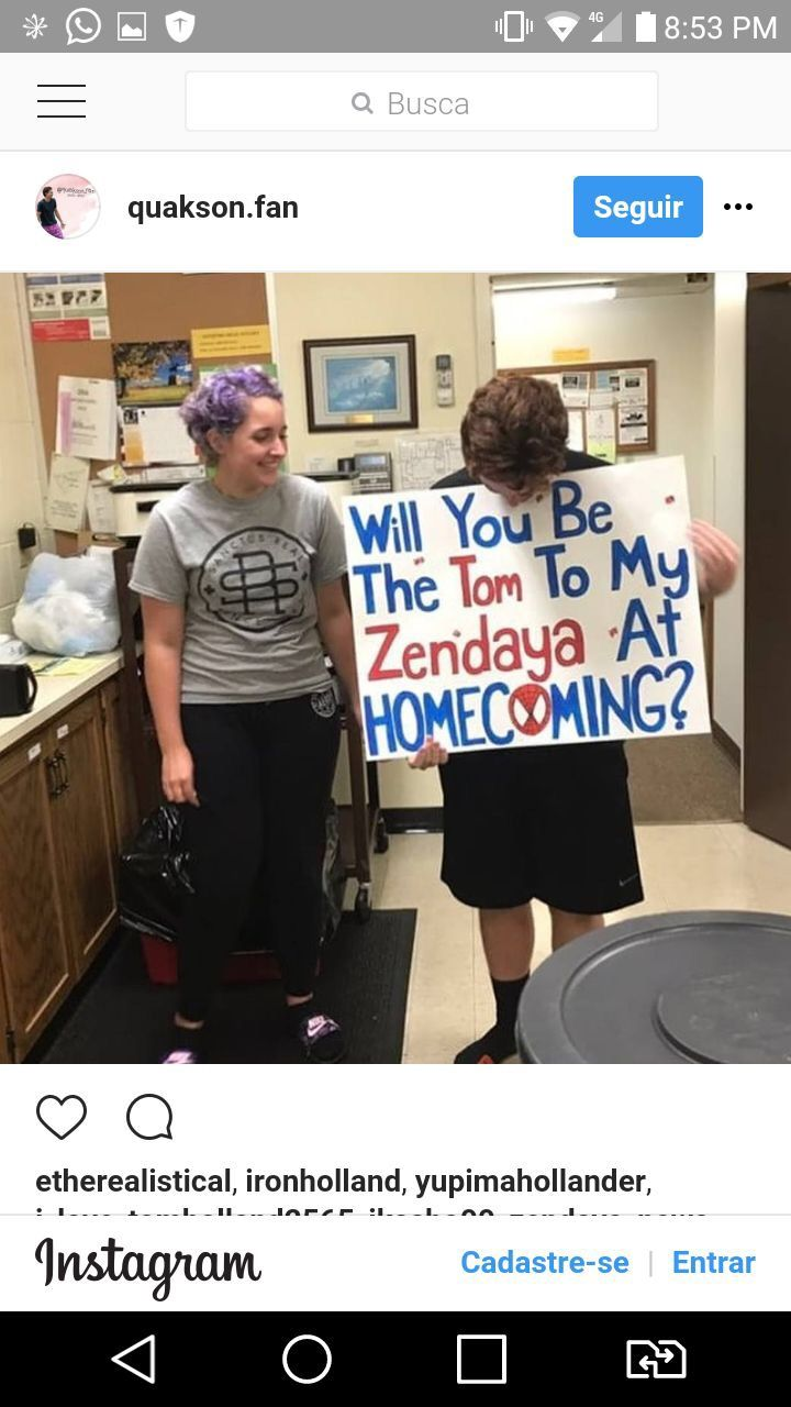 This is too cute! (P.s he didn't take zendaya to homecoming but we all ship them so I see where he's coming from)
