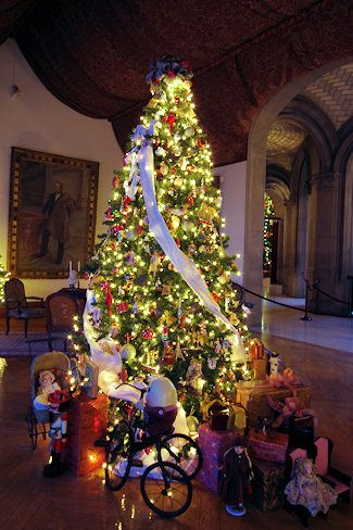 On my Christmas trip to the Biltmore, they had 64 beautiful trees troughout the house! A magical place!!!