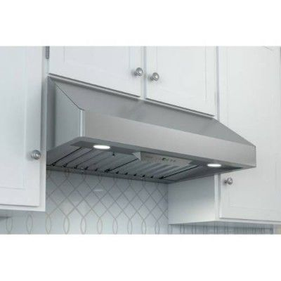 "Zephyr AK7000BS Power Tempest I 30"" Stainless Steel Canopy Pro Style Under Cabinet Range Hood"