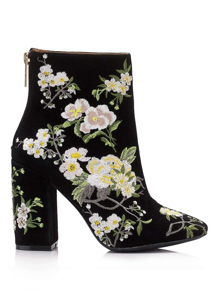 ATHENA Floral Embroidered Boot - Miss Selfridge US