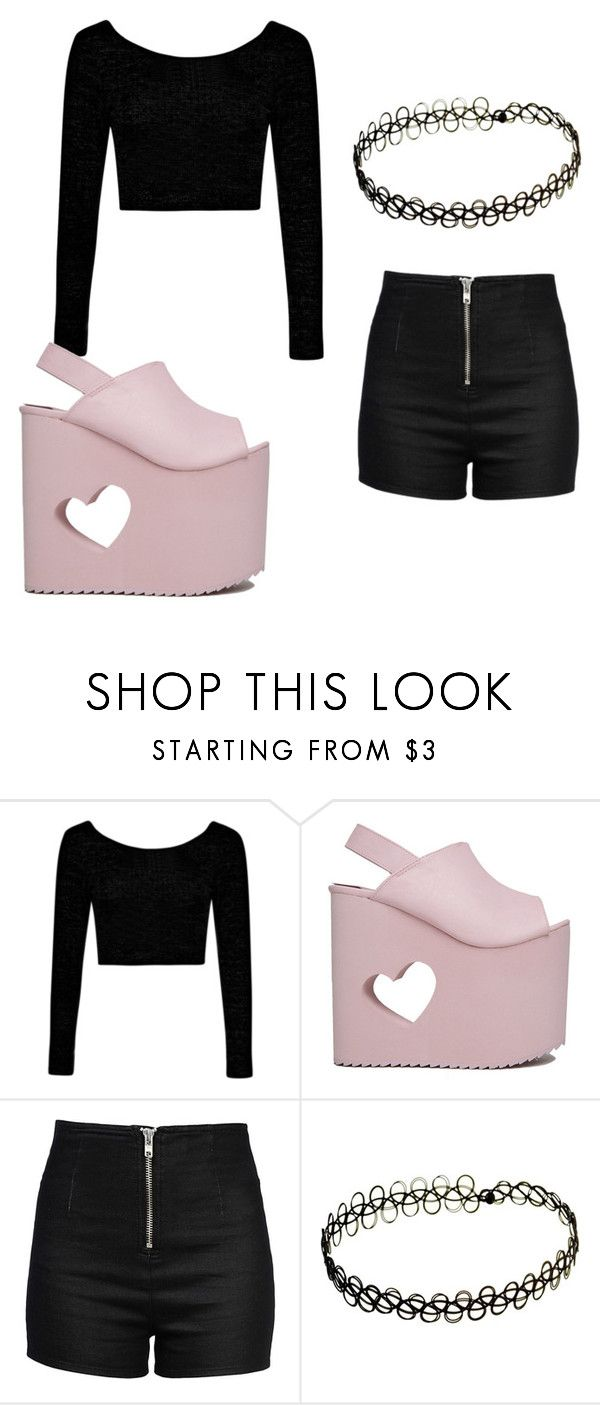 """""""Cute :D"""" by arinfinito ❤ liked on Polyvore featuring Boohoo, Nikki Lipstick and Love Moschino"""