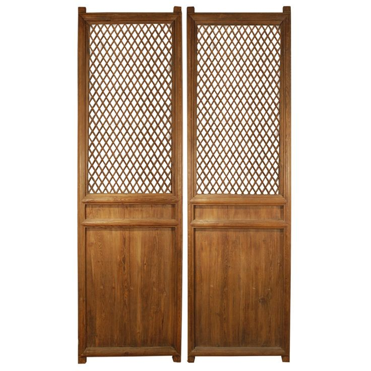Pair of 19th Century Chinese Courtyard Lattice Panels - 1st Dibs