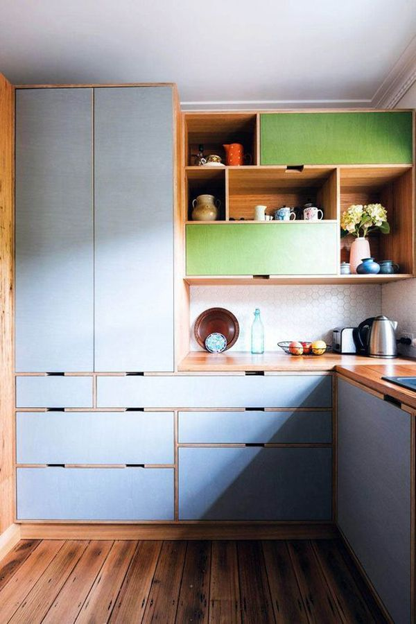 42 Retro Kitchen Design Ideas With Splash Of Colors Plywood
