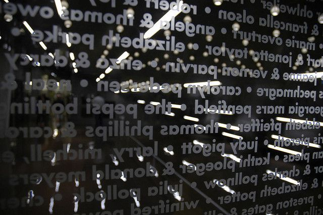 frosted vinyl text on glass