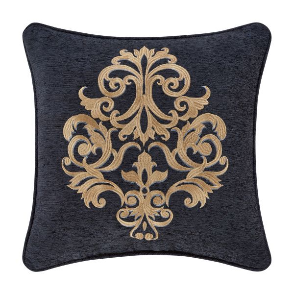 Luciana Indigo By J Queen New York Square Decorative Throw Pillow J Queen New York Queens New York Decorative Throw Pillows